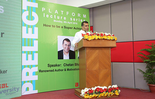 Platform Lecture Series by Mr. Chetan Bhagat at An